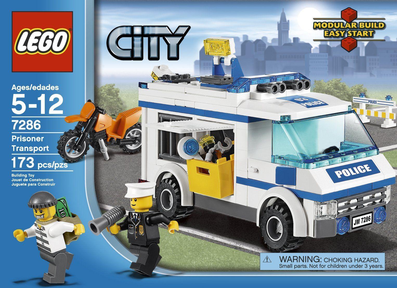 Amazon Com Lego Police Prisoner Transport 7286 Toys Games Lego City Lego City Sets Lego Police