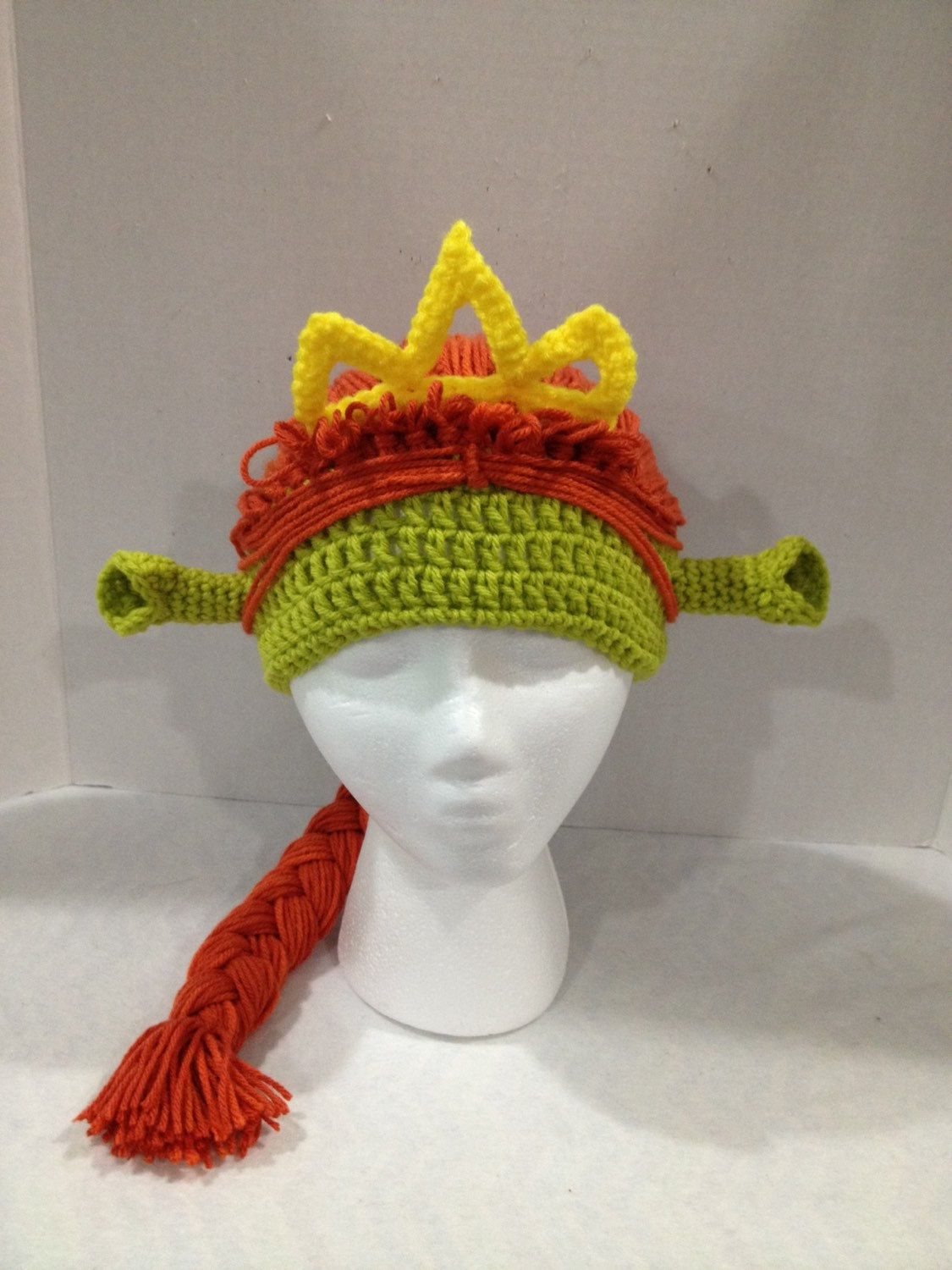 9d2dd5d5e4d Shrek Princess Fiona inspired crochet ogre hat by KaityBugKreations on Etsy  https   www