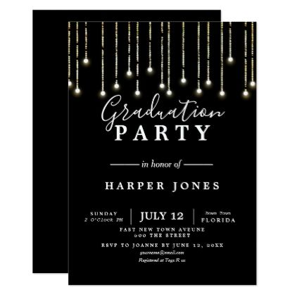 graduation party invite black and gold birthday graduation party