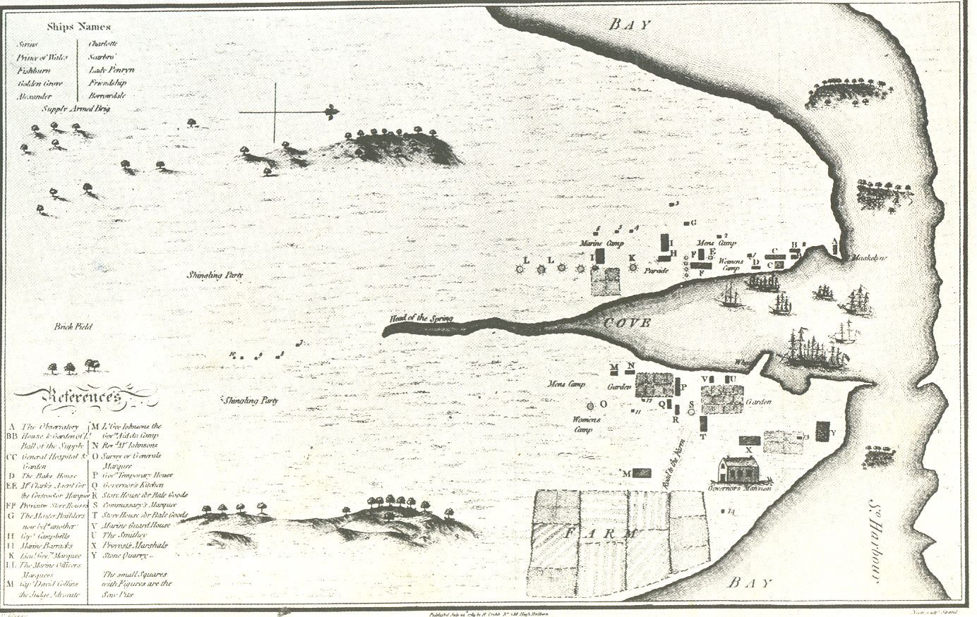 Map of sydney cove published 24 july 1789 our countrys good history fandeluxe Choice Image
