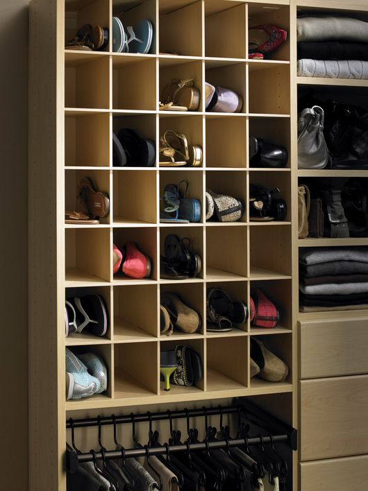 California Closets DFW Shoe Storage   Mini Bins