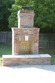 Brick Patio Chimney Google Search Backyard Fireplace Outdoor
