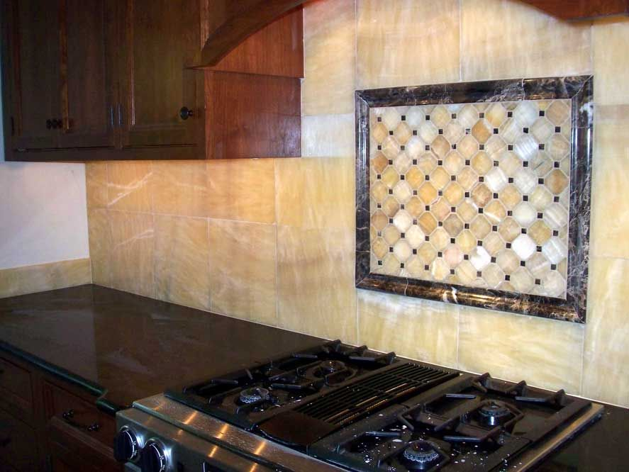 Image Of Honey Onyx Backsplash Onyx Backsplash Onyx Tile Design