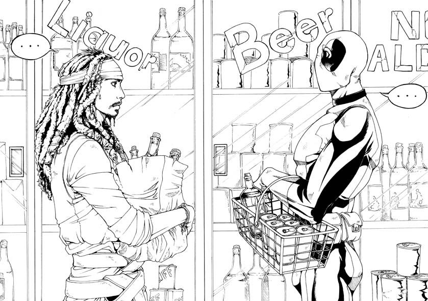 deadpool coloring book - Google Search | adult coloring pages ...