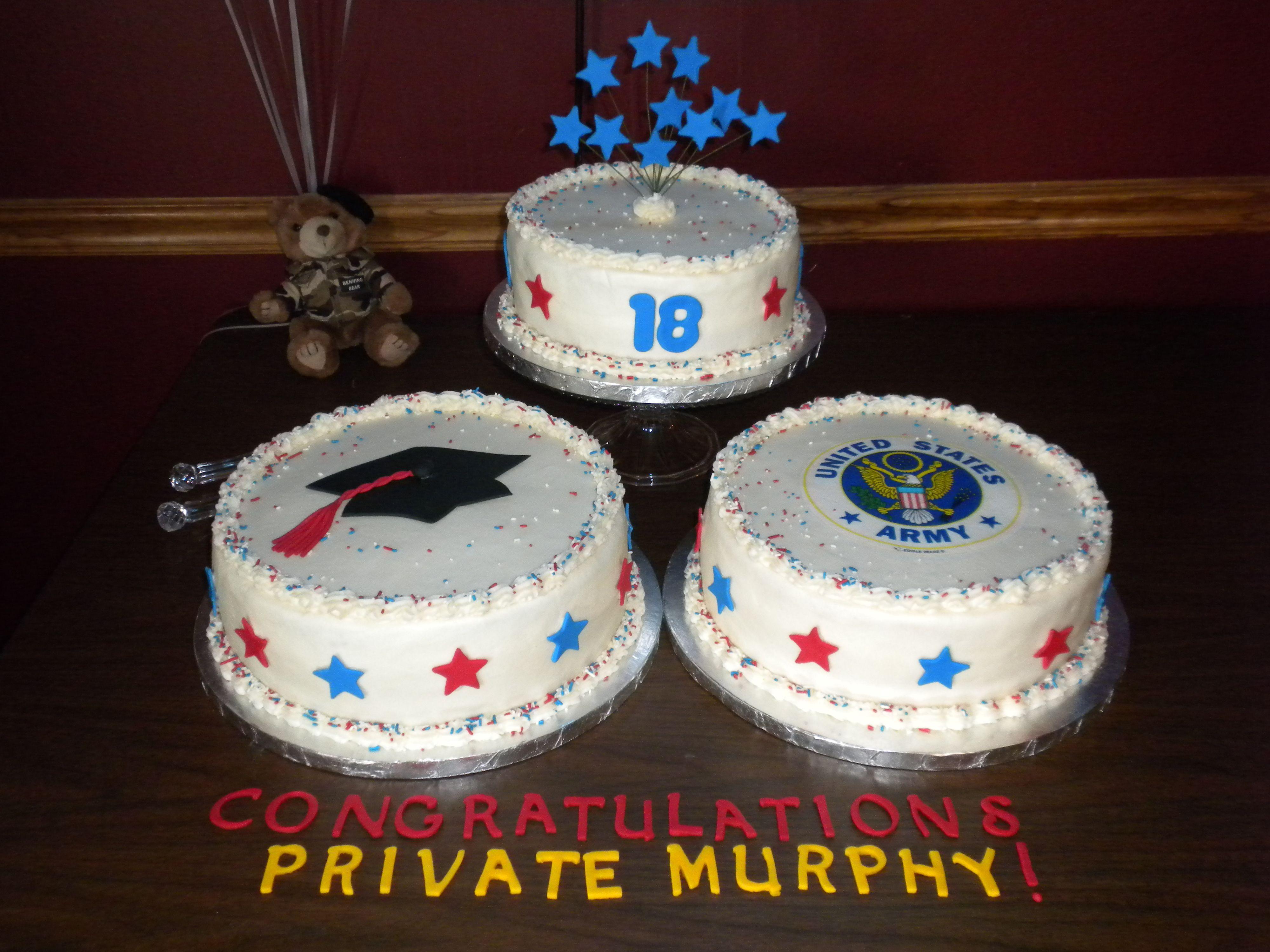 Donovans Birthday Graduation And Army Cakes Graduation Party