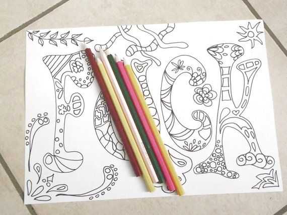 Swear Word Adult Coloring Book Sweary Page Mature Content Download Colouring Art Home Decor Fuck