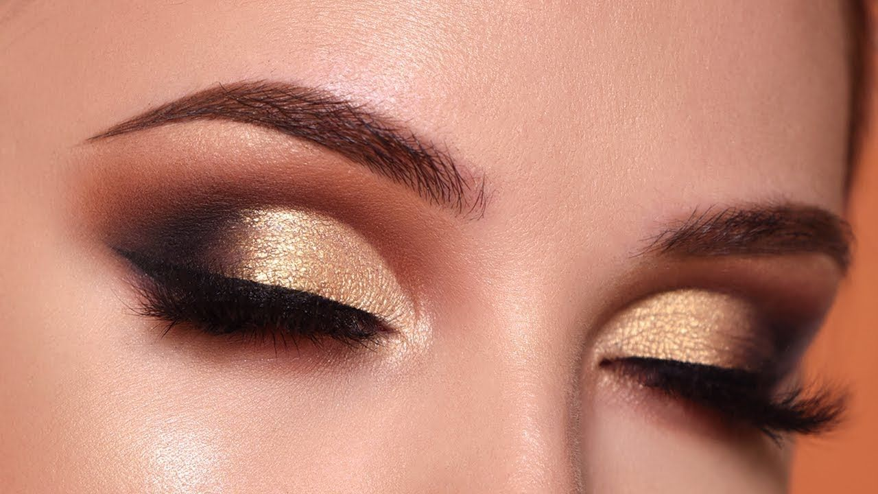 Glam gold smokey eye makeup tutorial morphe 35o2 palette glam gold smokey eye makeup tutorial morphe 35o2 palette youtube baditri Images
