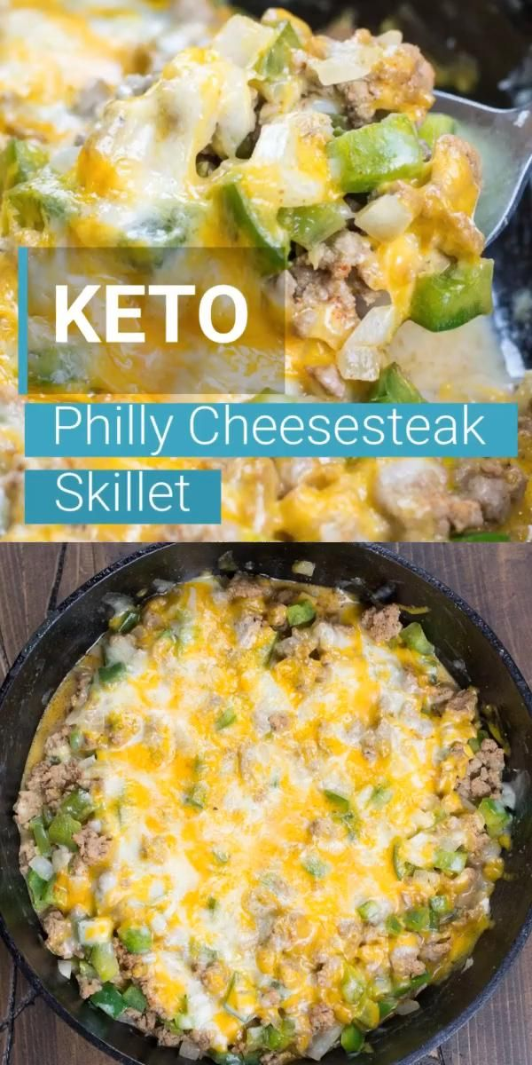 Photo of One Pan Keto Philly Cheesesteak Skillet