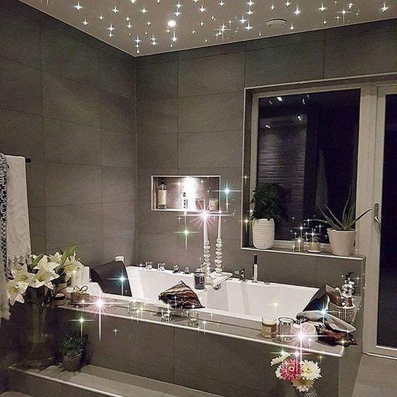 Romantic Bathroom Lighting Ideas: Loving Every Last Bit Of This. I Hope My Bathroom Can Look