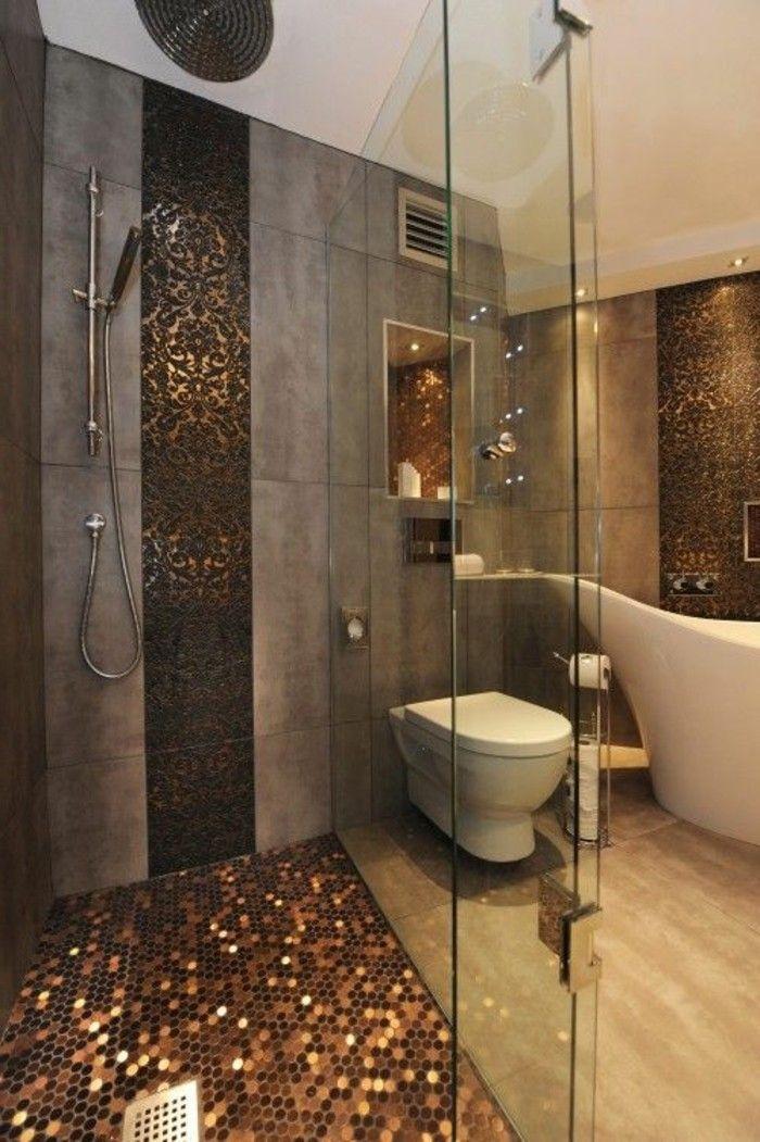 AuBergewohnlich 5 Badezimmer Deko Moderne Bader Mosaik Flisen Badezimmer In Grau