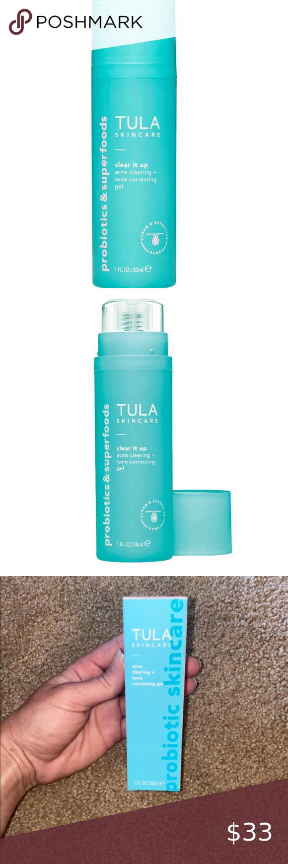Tula Clear Acne Clearing Tone Correcting Gel In 2020 Clear Acne Gel Acne