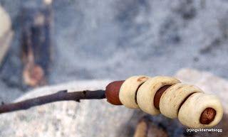 Ingvilds matblogg: Pinnebrød på bålet