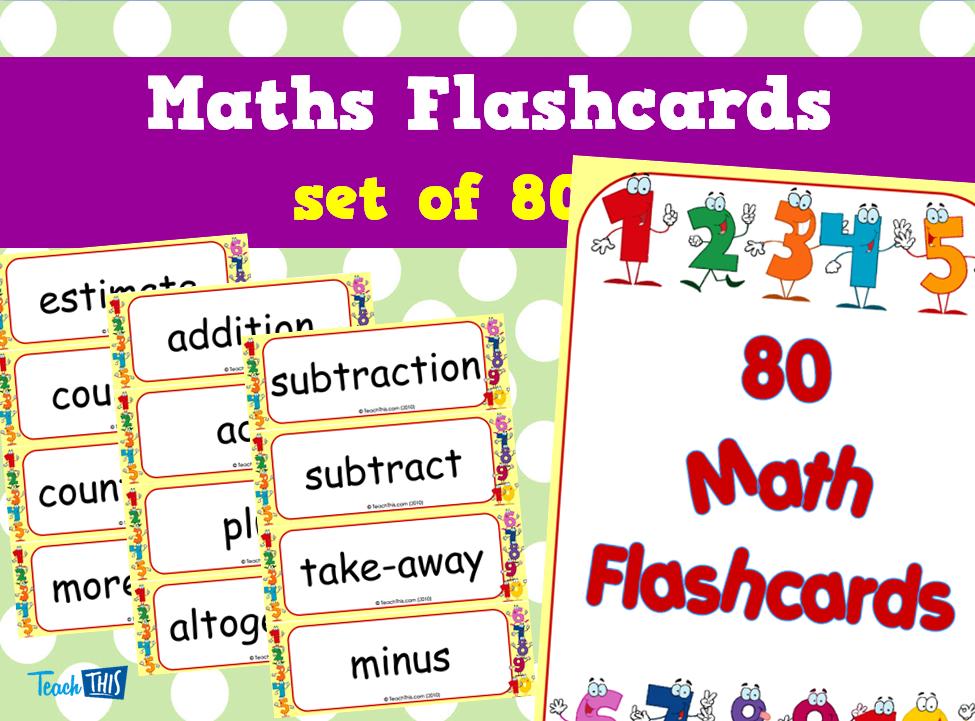 Maths Flashcards - set of 80 | Number & Place Value | Pinterest ...