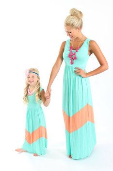 Ryleigh Rue Mint and Apricot Maxi Dress - Ryleigh Rue Clothing by ... e87c93ff6c