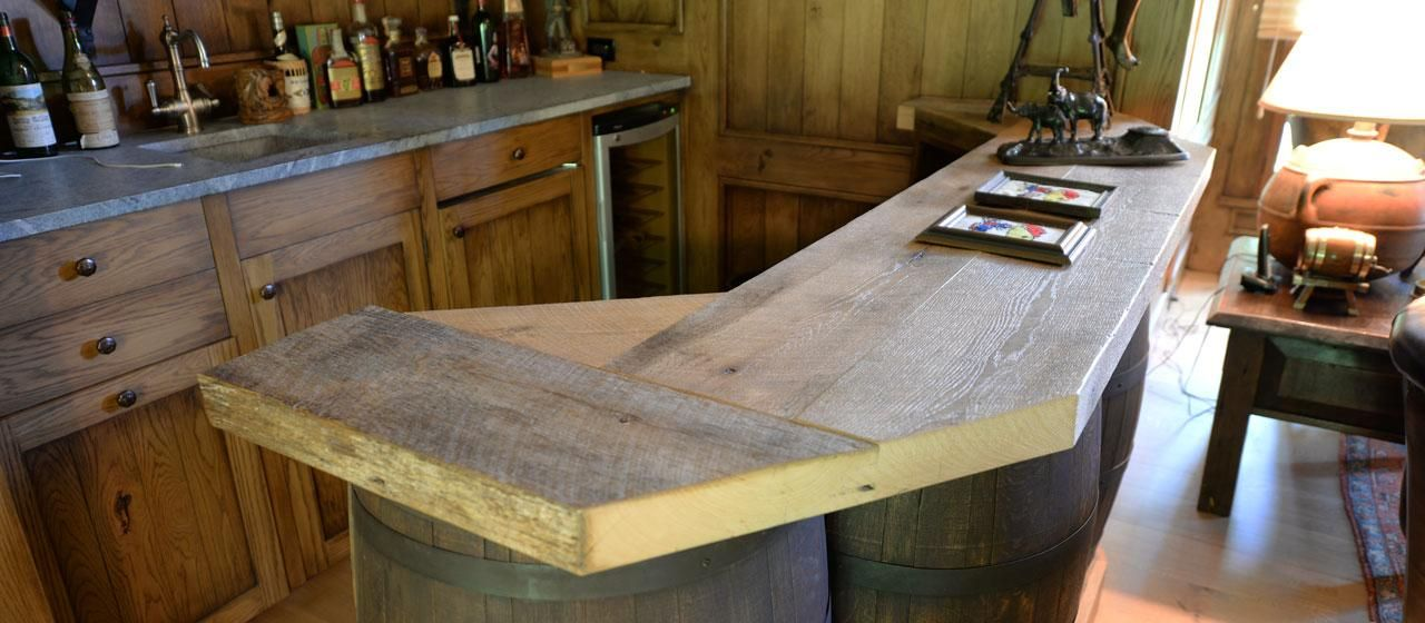 rustic wood bar top riss antique oak rustic bar top