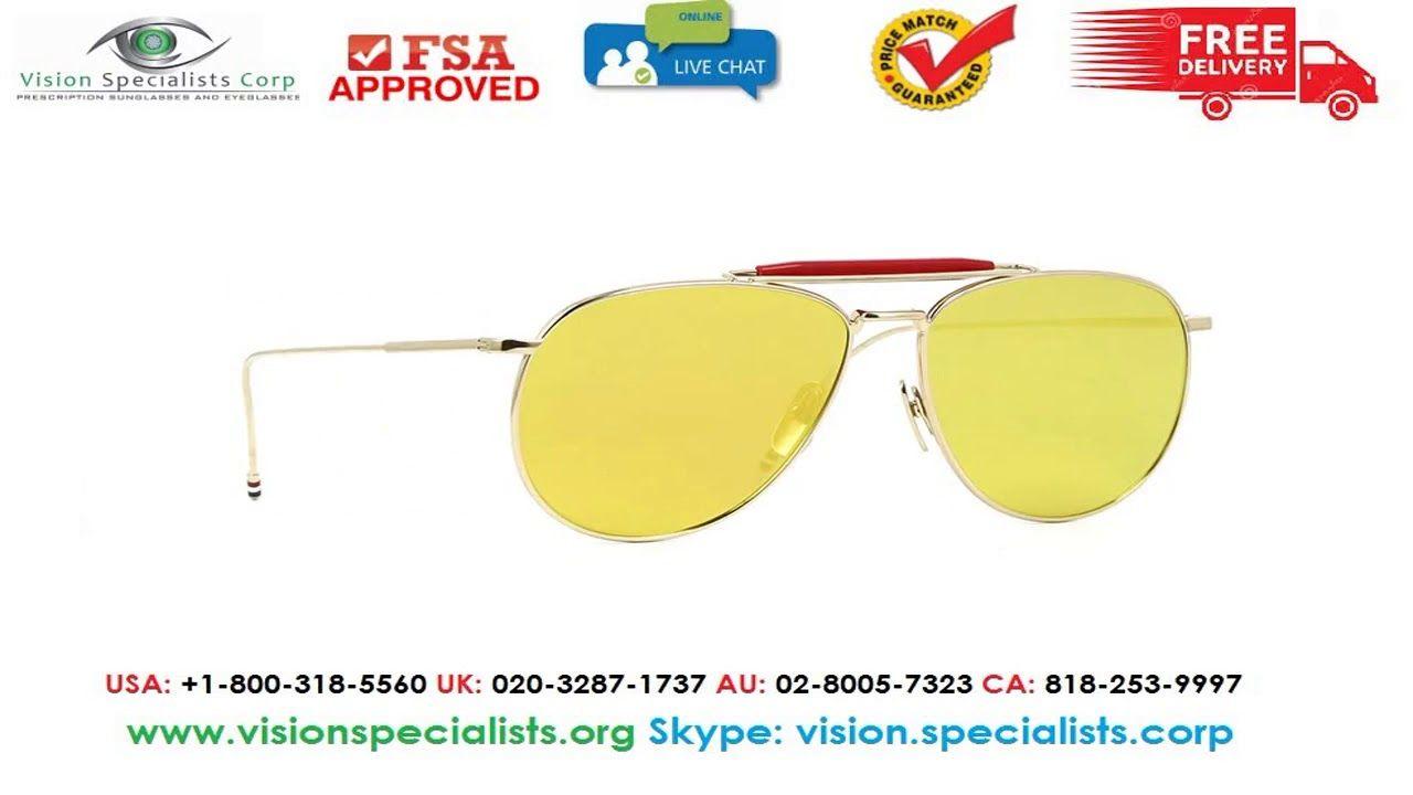 989f06434a0 Thom Browne TB 015 LTD Gold Sunglasses