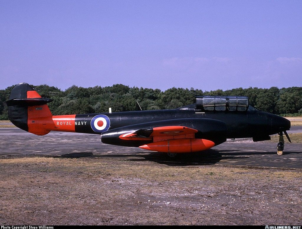 Gloster Meteor T7 WS103 Royal Navy at Hurn (Bournemouth