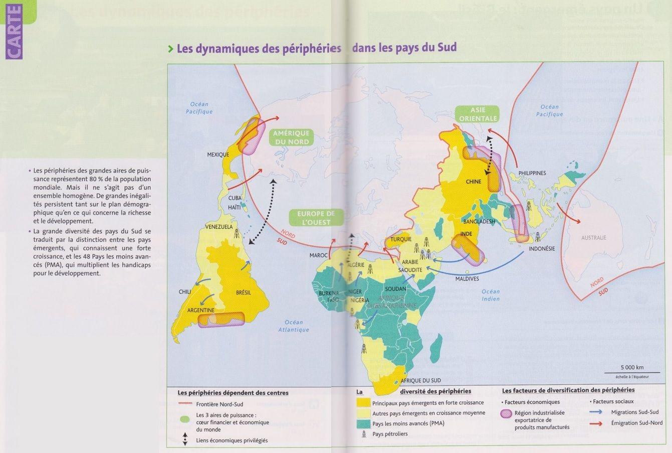 PBacPro-G4 : Carte sur les dynamiques des périphéries dans les pays du Sud.