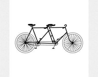 Tandem Bicycle Clip Art, Digital Download, Printable for Transfers Making Prints etc 300dpi No. 2