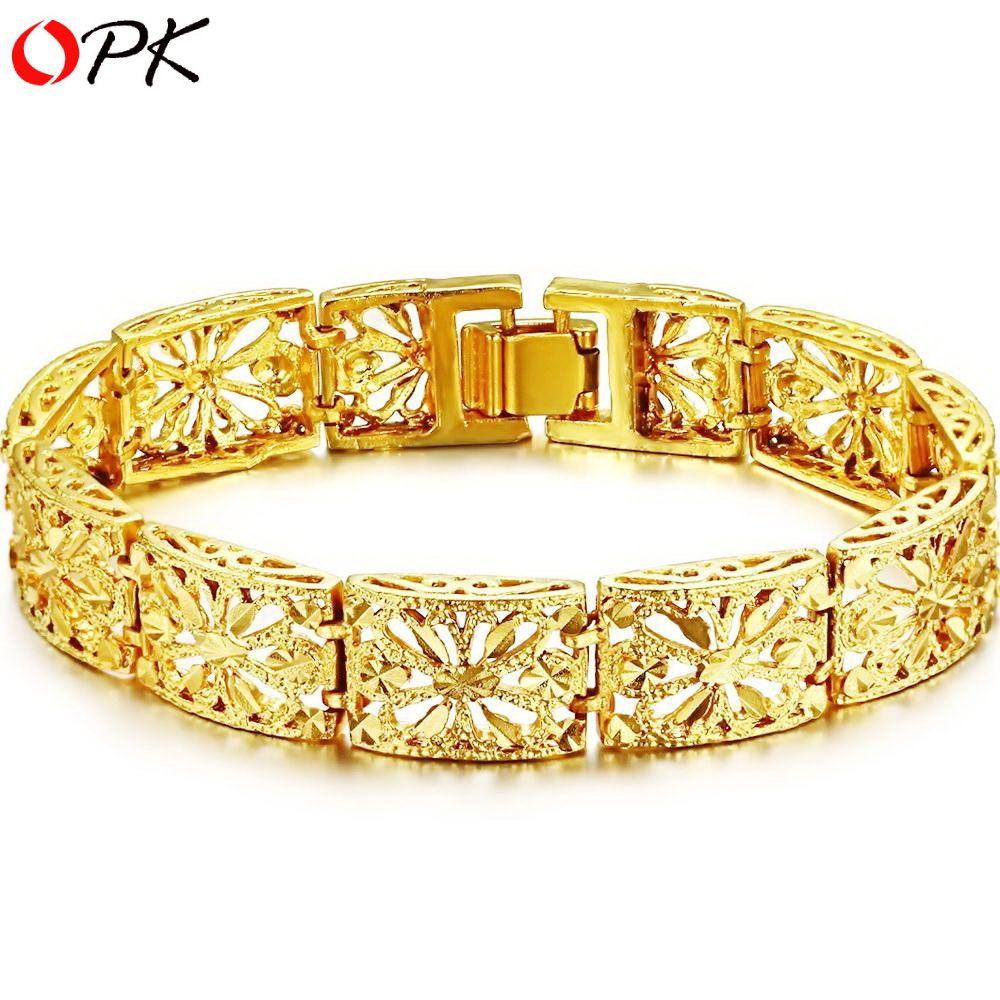OPK-JEWELLERY-wedding-jewelry18K-Gold-plated-Bracelet-handmade ...