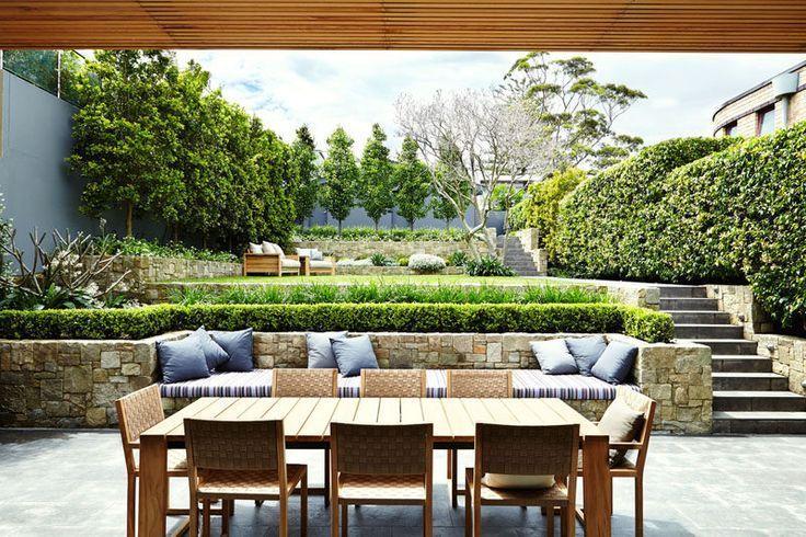 13 Multi Level Backyards That Inspire You For A Summer Remodel Backyard Makeover Sloped Garden Garden Design