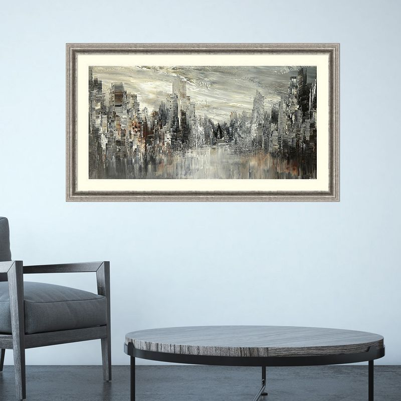 Youll love the contemporary cityscape look of this amanti art city of the century framed wall art