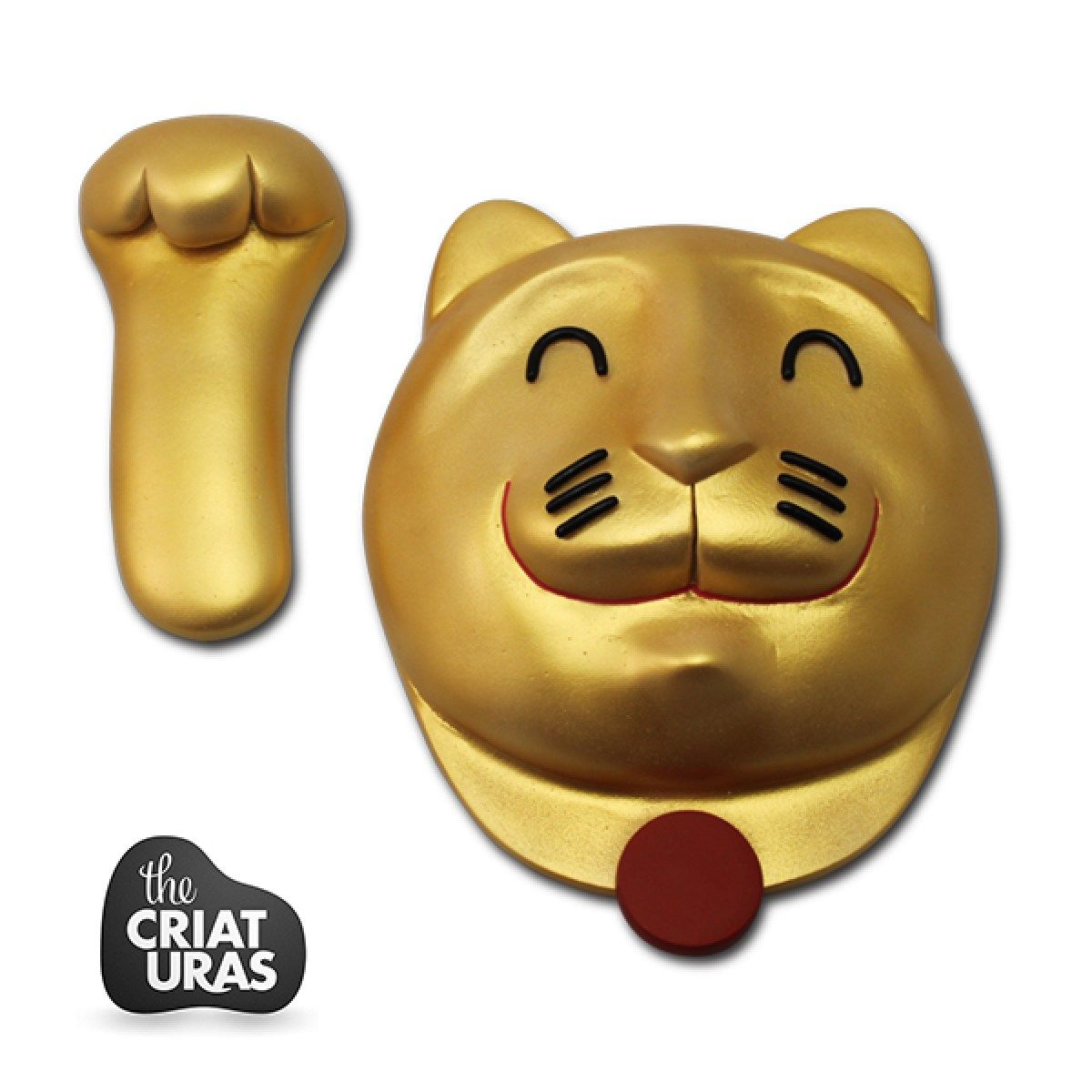 Gold WallCat – Off The Wall Series By The Criaturas | Designer Toys ...