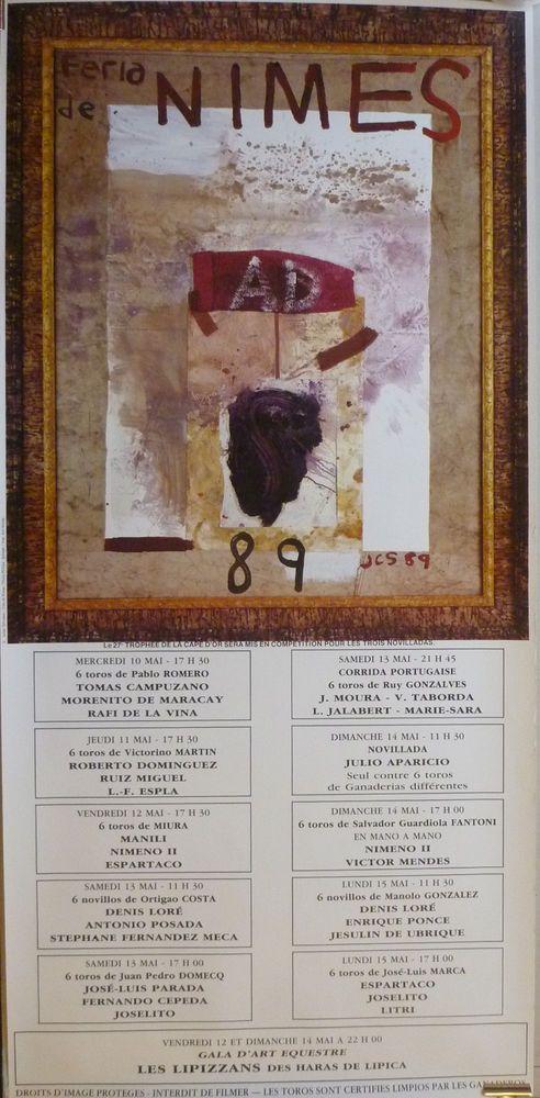 Affiche Originale Féria De Nimes 1989 Julian Schnabel