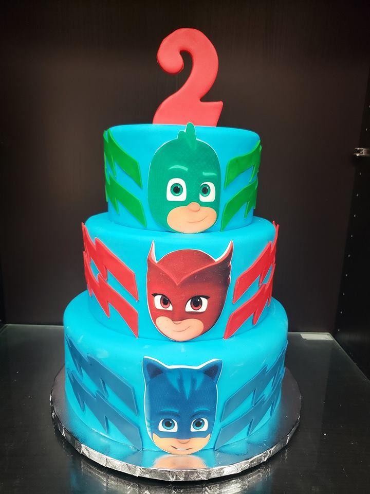pj mask cake   birthday cake, character cakes, cake