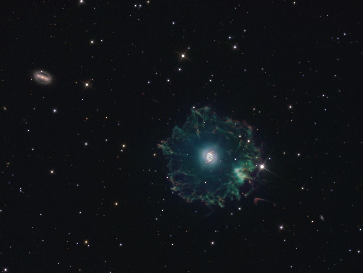NGC 6543 / IC 4677 (Cat`s Eye Nebula) & NGC 6552 in Draco