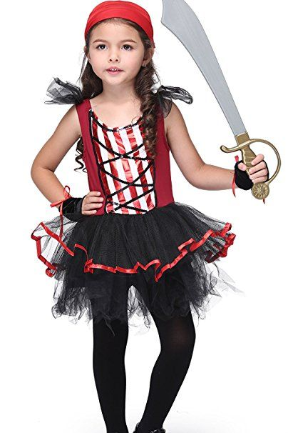 64f7d63b Pirate Cosplay for Children - bigxxx Material Head Scarf Suit Girls ...