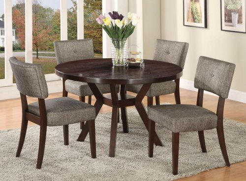 Astounding A16250 Drake Espresso Finish Dining Table 4 Chairs Download Free Architecture Designs Ponolprimenicaraguapropertycom