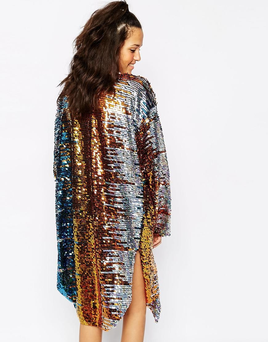 Image 2 of Story Of Lola Festival Longline Kimono In All Over ...