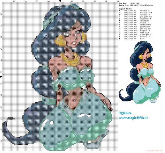 Jasmine sexy cross stitch pattern