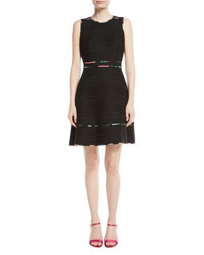 cdc4f9ac6b67d Kate Spade New York sleeveless blossom trim tweed mini dress ...