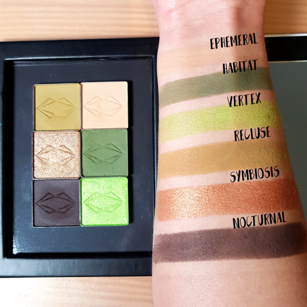 Lethal Cosmetics eyeshadows swatches Eyeshadow, Green