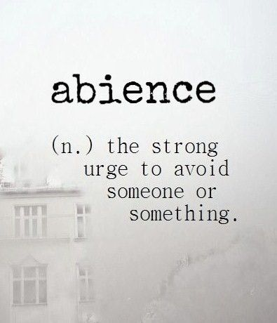 Abience Psychology N The Strong Urge To Avoid Someone