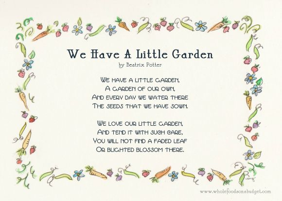 A Child s Garden Gardens Too late and Little gardens  Gardening Poems. Poems Gardening   SNSM155 com