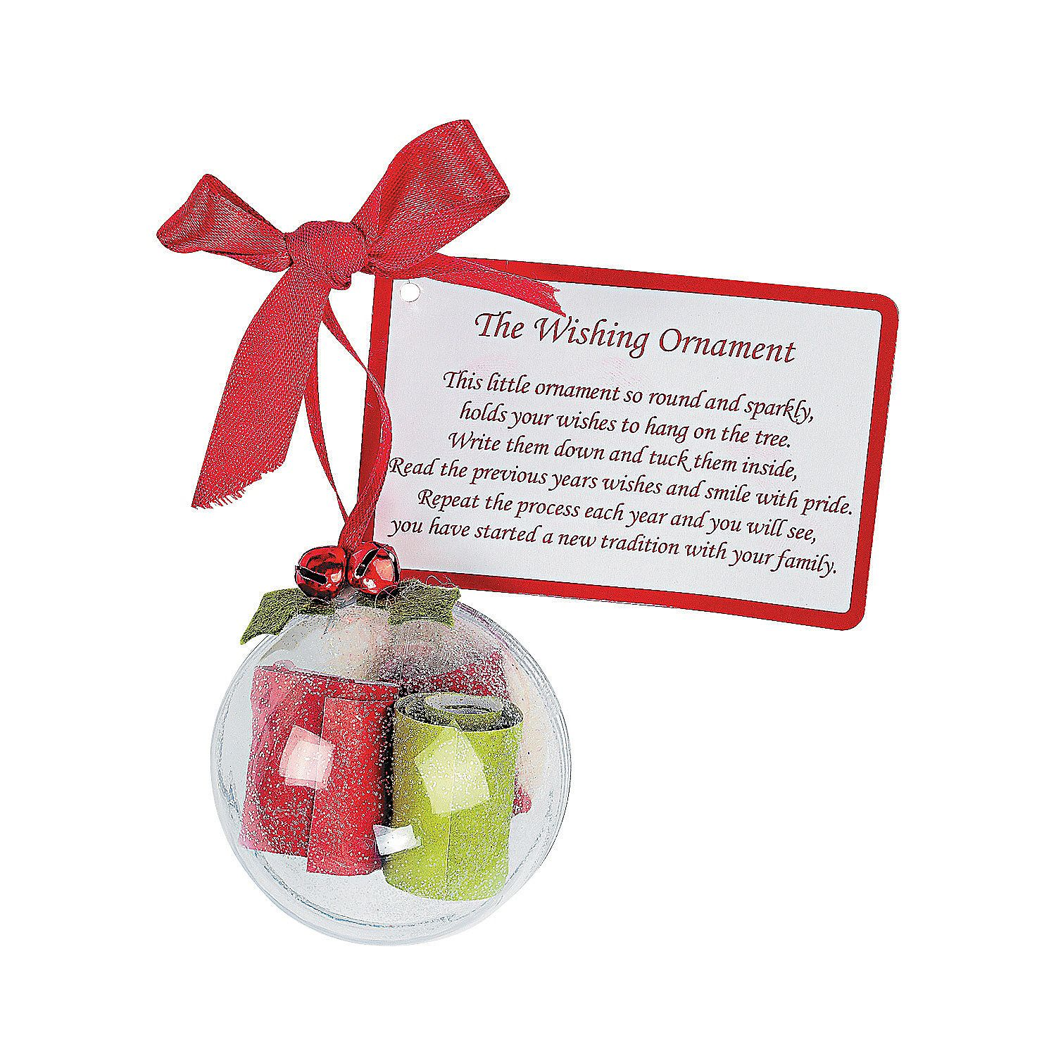 Legend Of The Christmas Tree Poem: Wishing Ornament Christmas Craft Kit. Makes 6 Ornaments