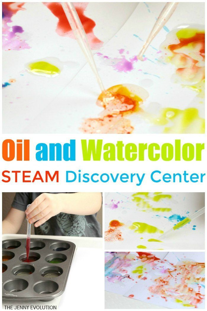 Oil And Water Experiment A Fun Steam Discovery Center Oil