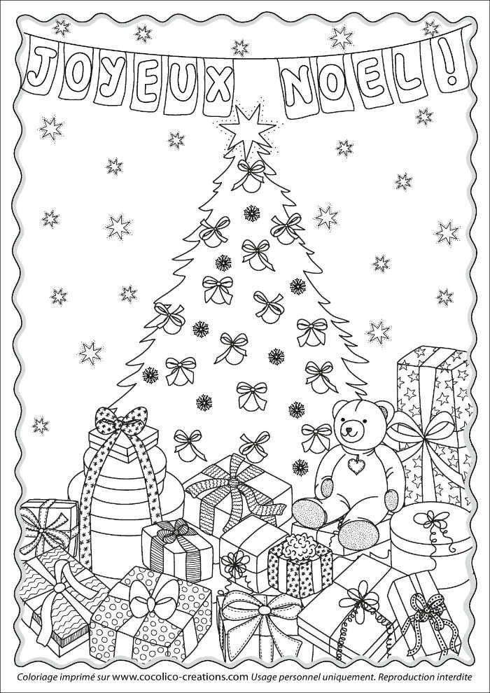 Coloriages Noël à imprimer gratuitement | Coloriage noel