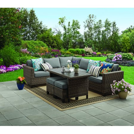 Better Homes Gardens Brookbury 5 Piece All Weather Wicker