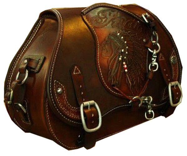 custom motorcycle saddlebag | Leather saddle bags