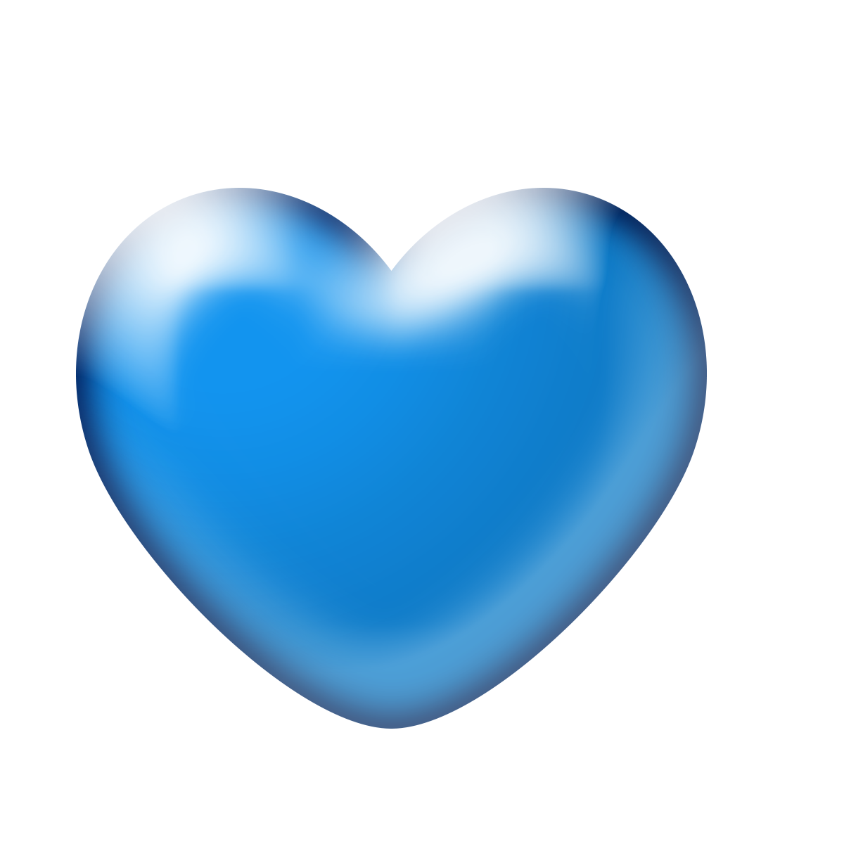 Free Download High Quality 3d Blue Heart Png Transparent Background 3d Heart Without Background Its A Good Quality Shining 3d He Blue Heart Clip Art Love Png