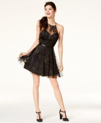 B Darlin Juniors  Embellished Fit   Flare Dress  9fafaaeb2