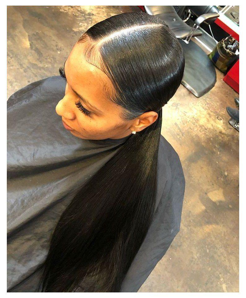 Sleek Ponytail Black Women Outfit Sleekponytailblackwomenoutfit In 2021 Low Ponytail Hairstyles Sleek Ponytail Hairstyles Hair Ponytail Styles