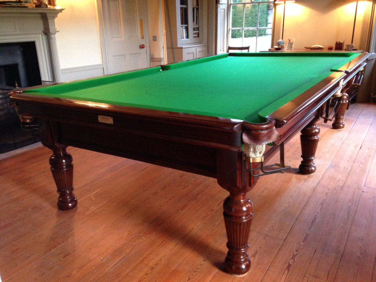 After Fully Restored French Polished Re Covereand Installed 10ft Burroughes And Watts Antique Billiards Billiards Snooker Table
