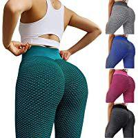 TIK Tok Leggings Women High Waist Yoga Pants Scrunched Booty Leggings Workout Butt Lift Tummy Control Stretch Tights