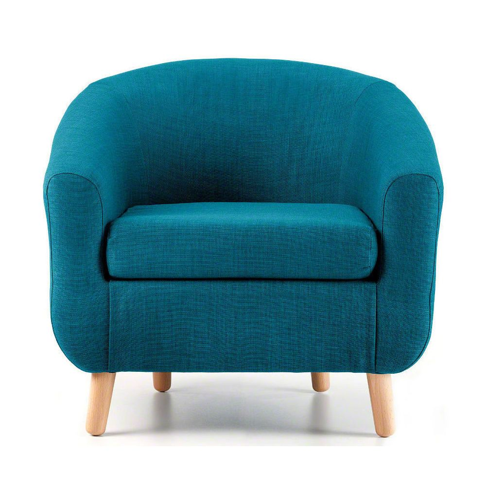 Turin Teal Tub Chair – Next Day Delivery Turin Teal Tub Chair from ...