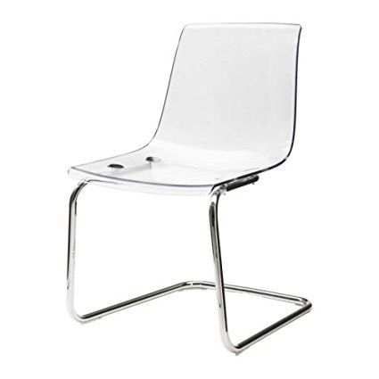 IKEA TOBIAS - Chair, transparent, chrome-plated | I N T E ...